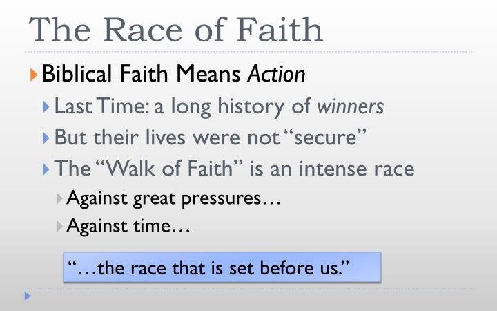 The Race of Faith