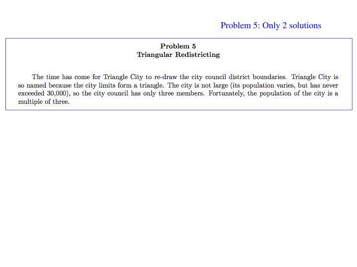 Problem 5: Only 2 solutions