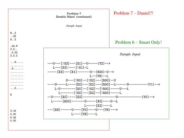 Problem 7 – Daniel?!