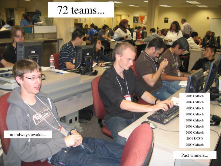 72 teams...