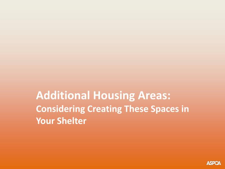 Additional Housing Areas: