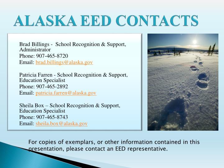 ALASKA EED CONTACTS