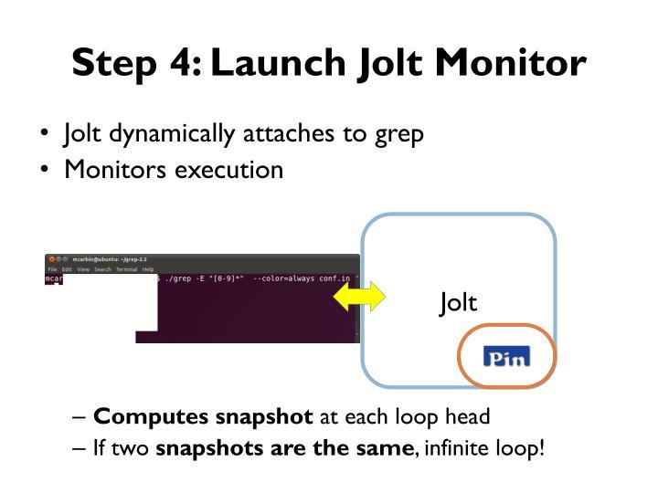 Step 4: Launch Jolt Monitor