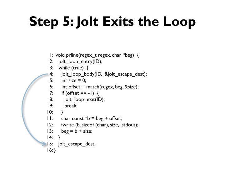 Step 5: Jolt