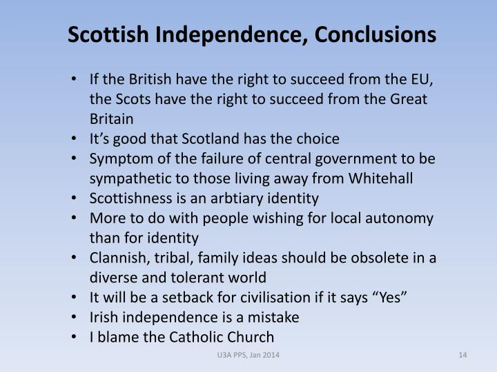 If the British have the right to succeed from the EU, the Scots have the right to succeed from the Great Britain