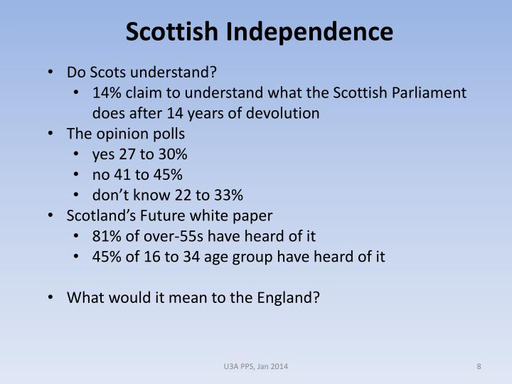 Do Scots understand?