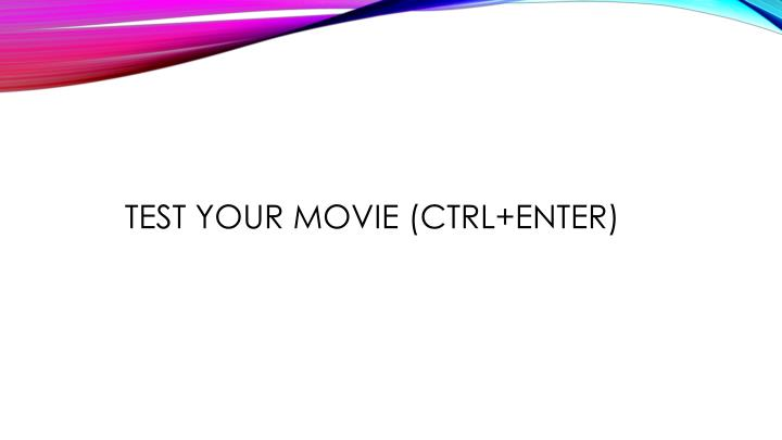 Test your Movie (