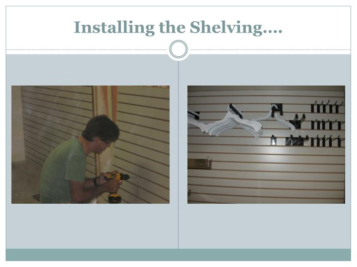 Installing the Shelving….