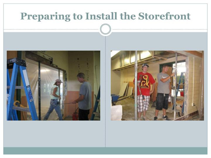 Preparing to Install the Storefront