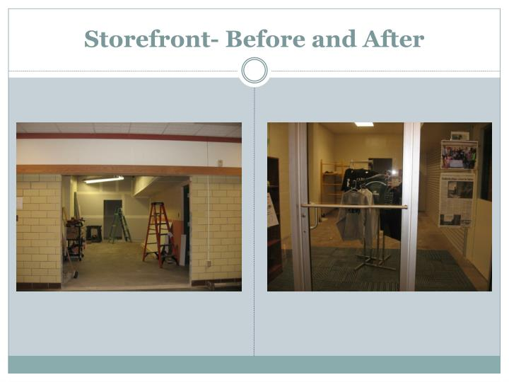 Storefront- Before and After