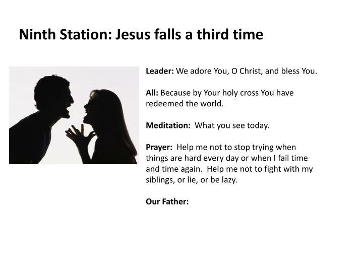 Ninth Station: Jesus falls a third time