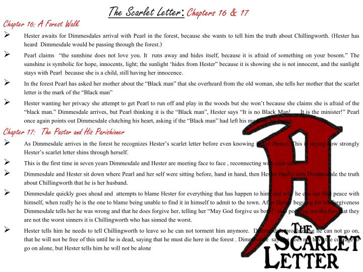 dimmesdale essay scarlet letter The seventeenth century novel, the scarlet letter, by nathaniel hawthorne begins with hester prynne, a woman living in colonial.