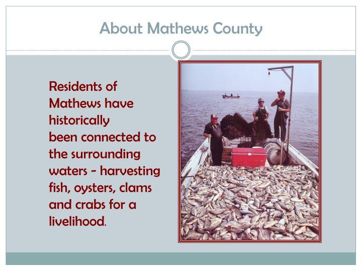 About Mathews County