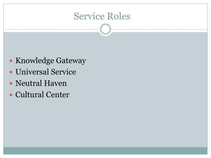 Service Roles