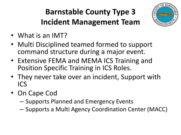 Barnstable County Type 3