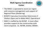 multi agency coordination center