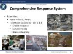 comprehensive response system