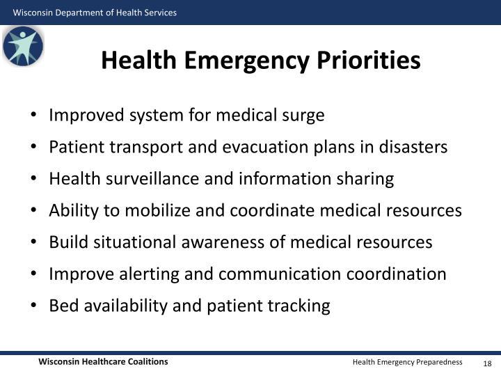 Health Emergency Priorities