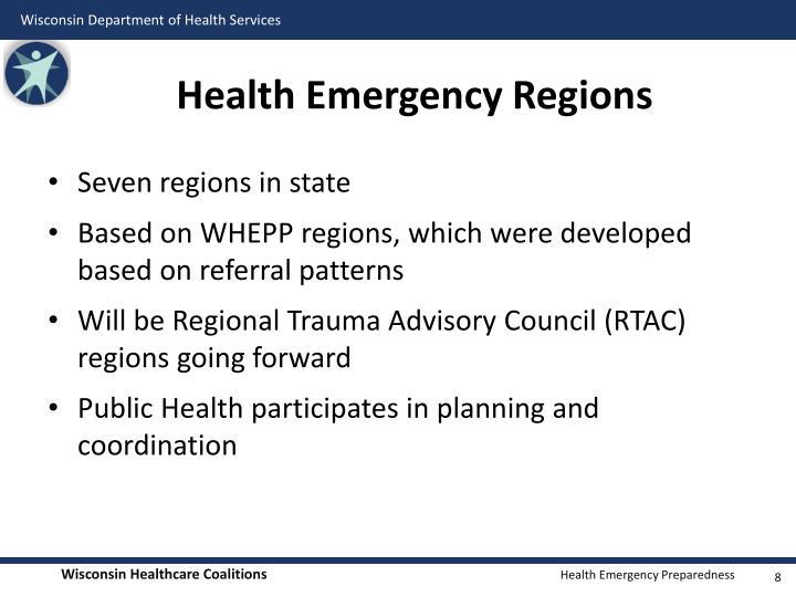 Health Emergency Regions