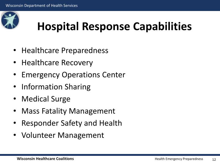 Hospital Response Capabilities