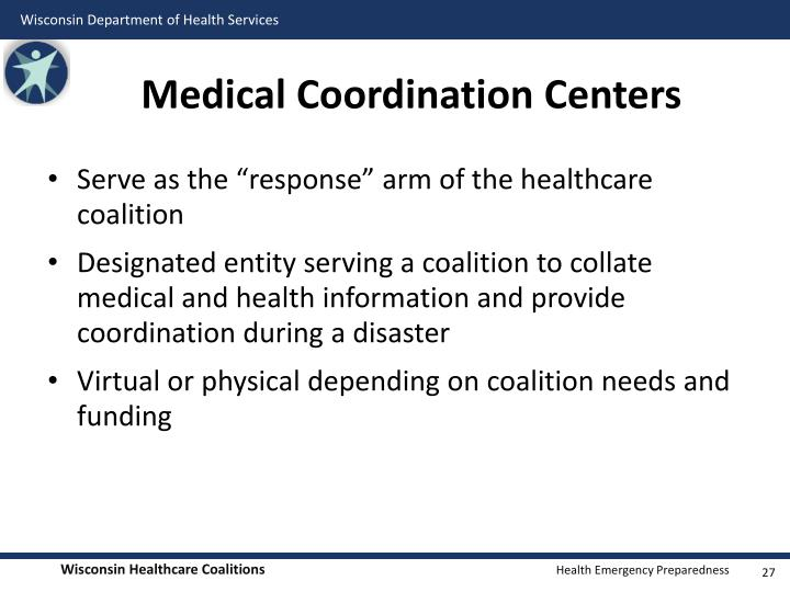 Medical Coordination Centers