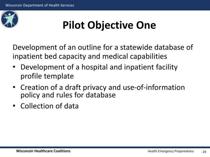 Pilot Objective One