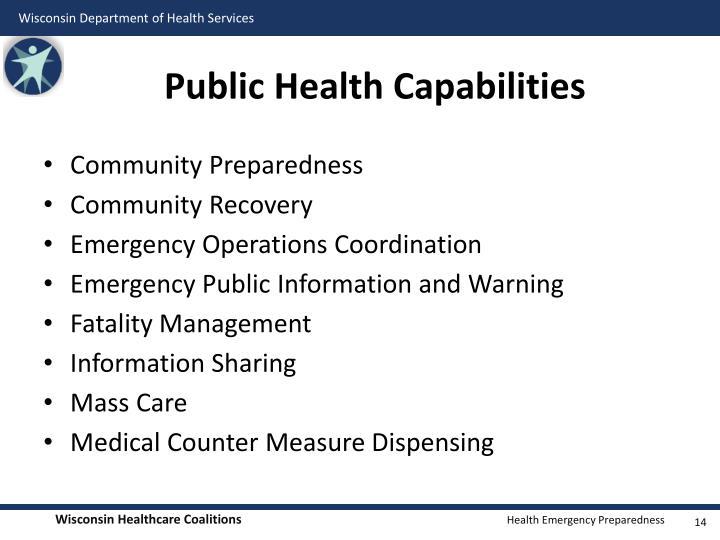 Public Health Capabilities