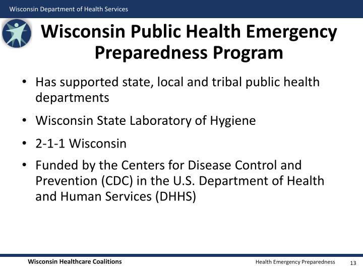 Wisconsin Public Health Emergency Preparedness Program