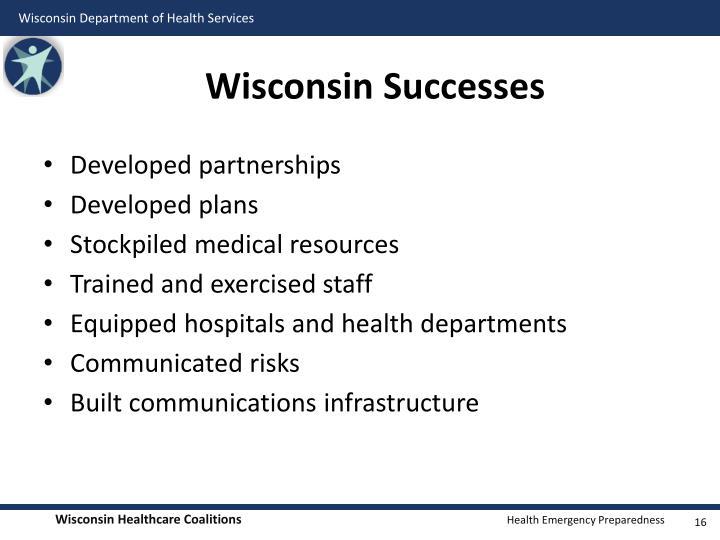 Wisconsin Successes