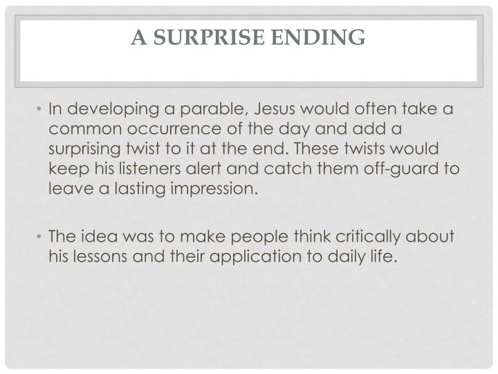 A Surprise Ending
