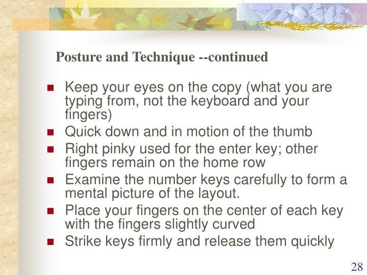 Posture and Technique