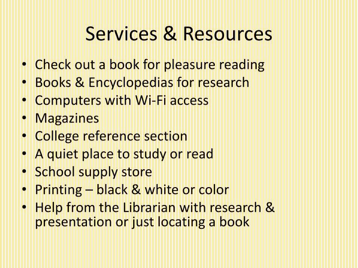 Services resources