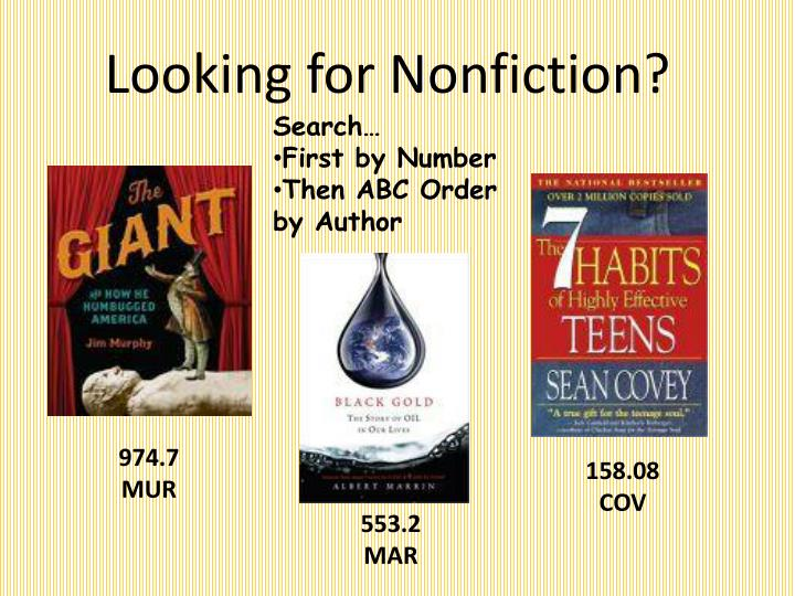 Looking for Nonfiction?