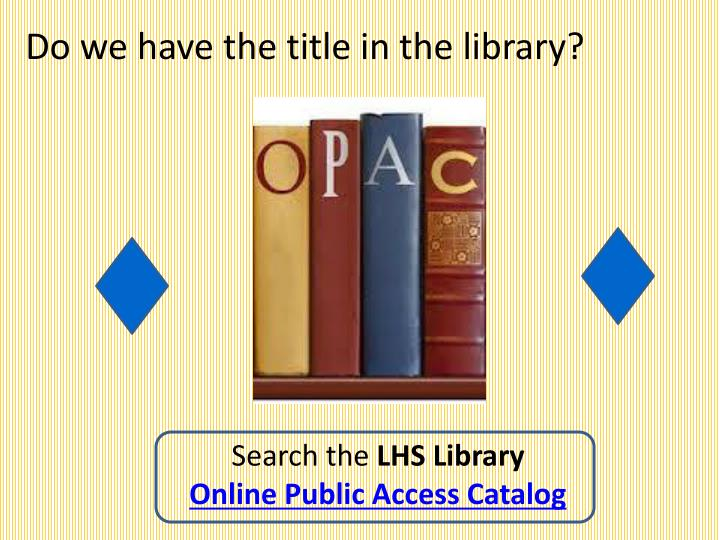 Do we have the title in the library?