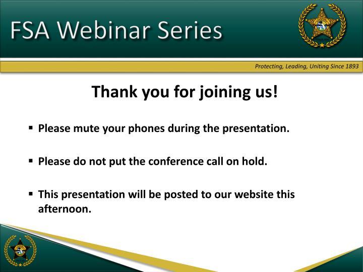 FSA Webinar Series