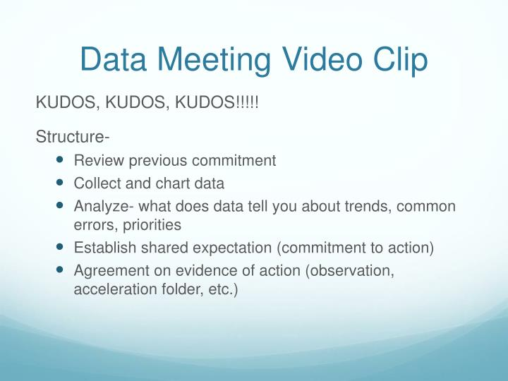 Data Meeting Video Clip