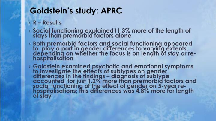 Goldstein's study: APRC