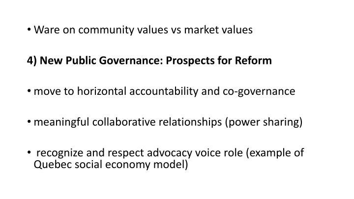 Ware on community values