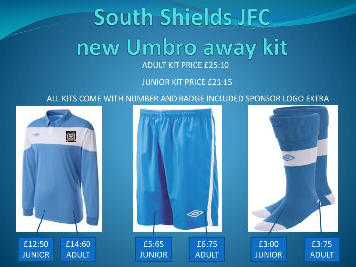 South shields jfc new umbro away kit