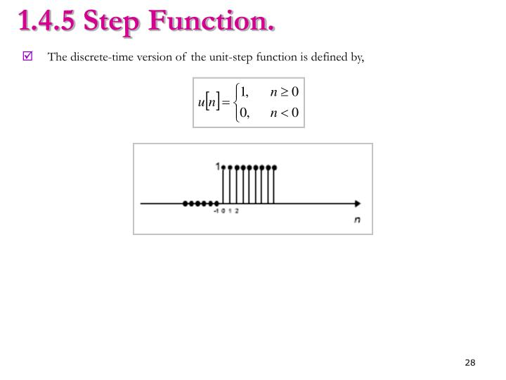 1.4.5 Step Function.
