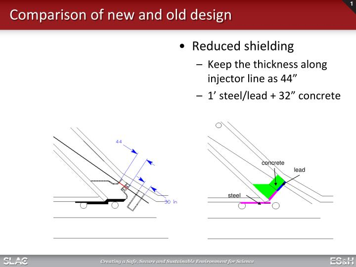 comparison of new and old design