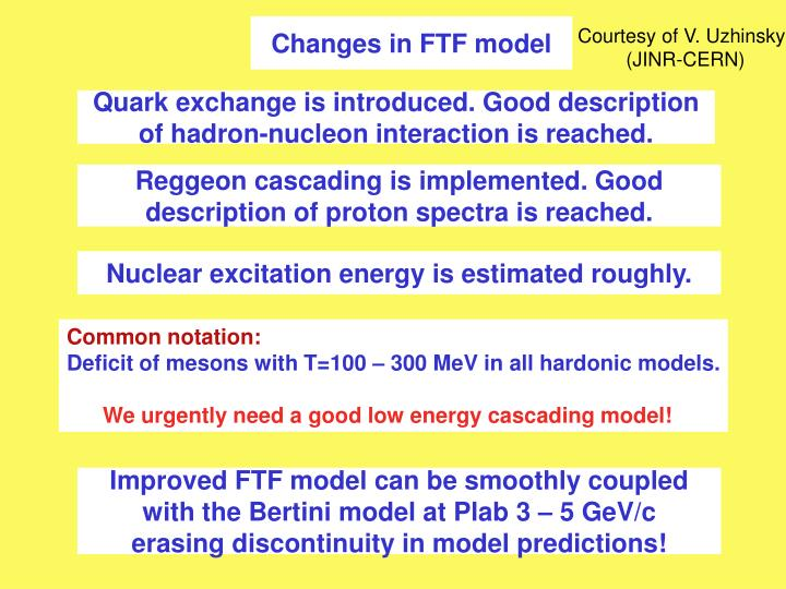 Changes in FTF model