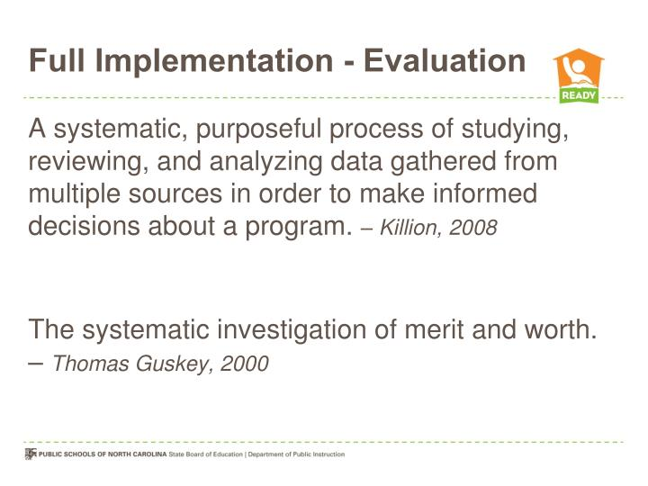 Full Implementation - Evaluation