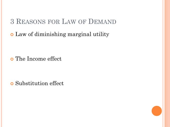 3 Reasons for Law of Demand