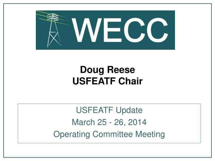 doug reese usfeatf chair
