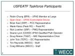 usfeatf taskforce participants