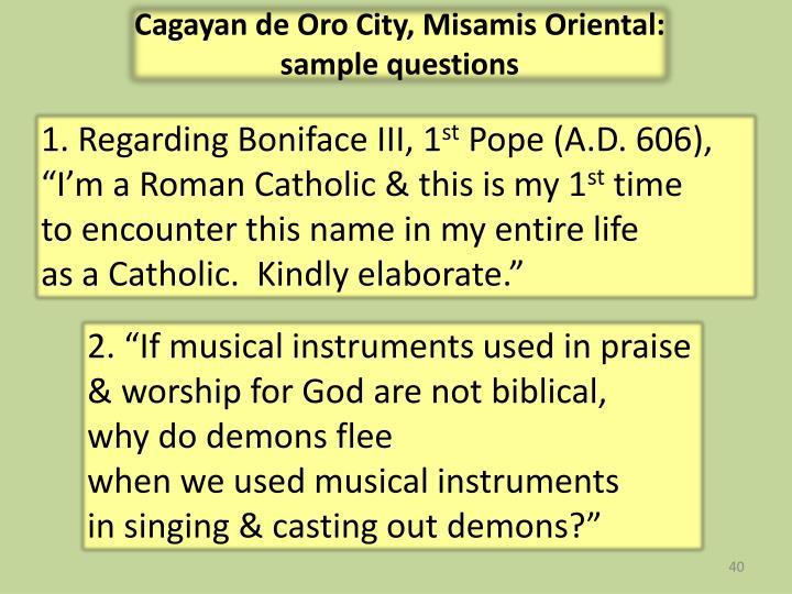 Cagayan de Oro City,