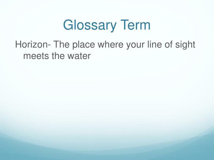 Glossary Term