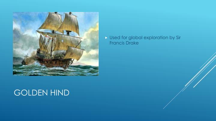 Used for global exploration by Sir Francis Drake
