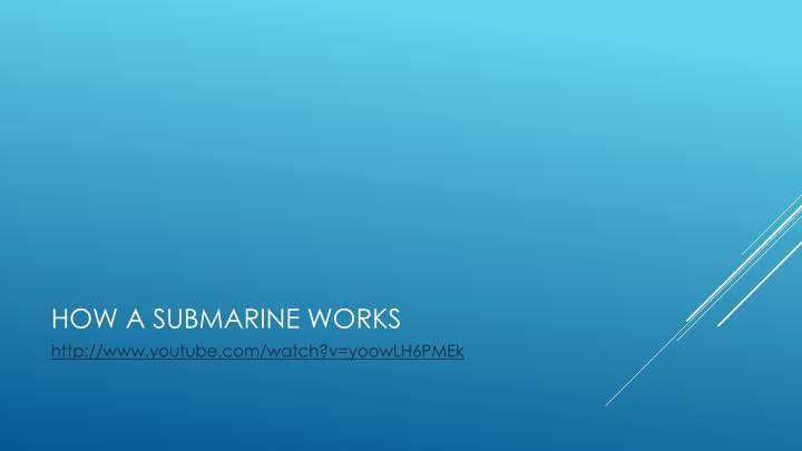 How a submarine